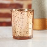 Copper Mercury Glass Tealight Holder (Set of 4)