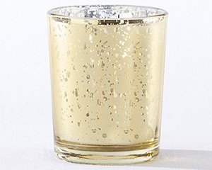 Gold Mercury Glass Tea Light Holder (Set of 4) image