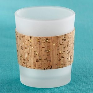 Tropical Chic Cork Wrapped Tea Light Holders (Set of 4) image