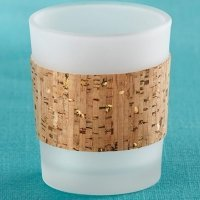 Tropical Chic Cork Wrapped Tea Light Holders (Set of 4)
