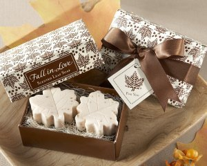 'Fall In Love' Leaf-Shaped Soap Wedding Favors image