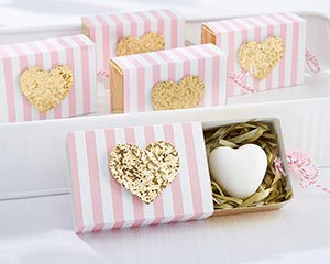 Heart Of Gold  Scented Heart Soap Favors image
