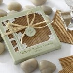 Natural Bamboo Eco-Friendly Coasters (4 per Set)