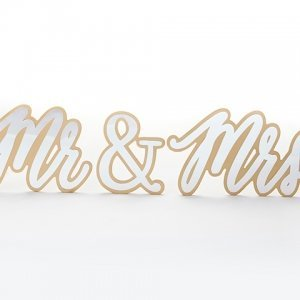 Gold Mr & Mrs Sweetheart Table Sign image