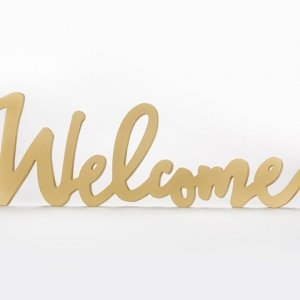 Gold Welcome Table Sign image