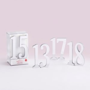 Silver Mirror Table Numbers image