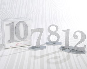 Silver Glitter Table Numbers (7-12) image