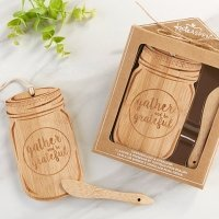 Mason Jar Cheeseboard and Spreader