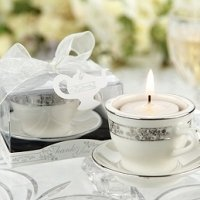 Miniature Teacup & Saucer Tealight Candle Holders