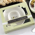 'Olive You' Ceramic Olive Tray and Spreader Set