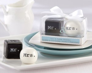 Mr. and Mrs. Wedding Salt and Pepper Shakers image