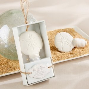By the Shore Ceramic Sand Dollar Bottle Stopper image
