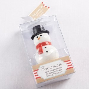 Holiday Party Snowman Salt & Pepper Shaker Favors image