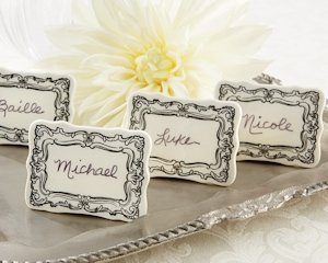 Vintage Filigree Ceramic Place Markers (Set of 6) image
