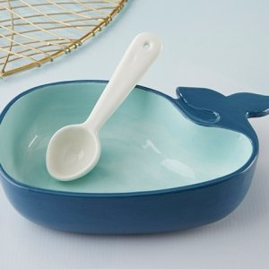 Whale Shaped Dip Bowl and Spoon image