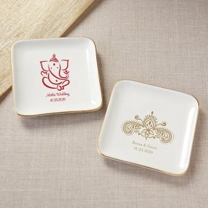 Personalized Indian Jewel Trinket Dish image