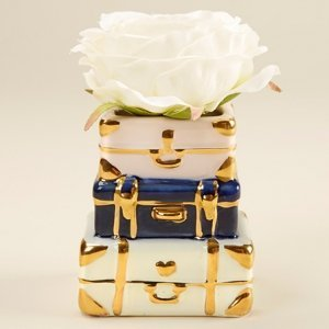 Suitcase Design Ceramic Bud Vase image