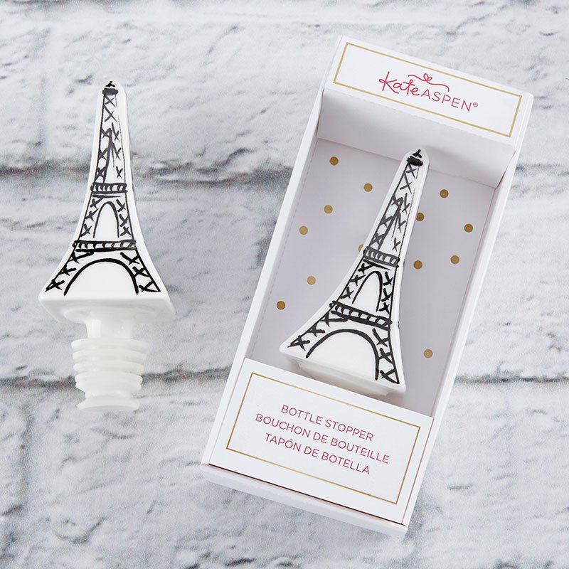 Eiffel Tower Ceramic Bottle Stopper image