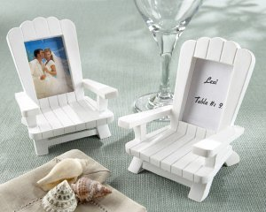 Mini Adirondack Beach Chair Place Card Frames (Set of 4) image