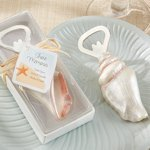 Shore Memories Seashell Bottle Opener Wedding Favors