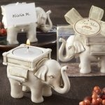 Lucky Elephant Tealight Candle Holder Favors