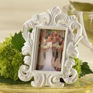 White Baroque Wedding Table Frames image