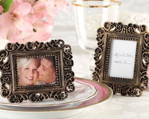 Ornate Antique Gold Place Card Holder & Photo Frame image