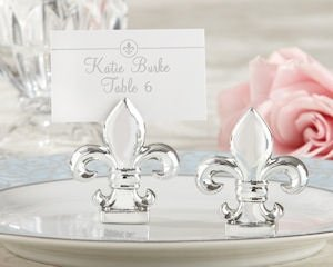 Silver Fleur de Lis Place Card Holders (Set of 4) image