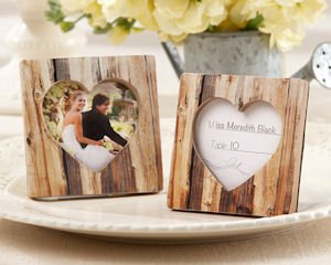 'Rustic Romance' Wood Heart Place Card Holder & Photo Frame image