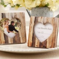 'Rustic Romance' Wood Heart Place Card Holder & Photo Frame
