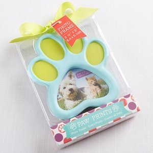 Pet Lover Paw Print Photo Frame Favors image
