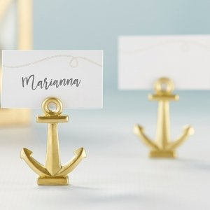 Gold Nautical Anchor Place Card Holder (Set of 6) image
