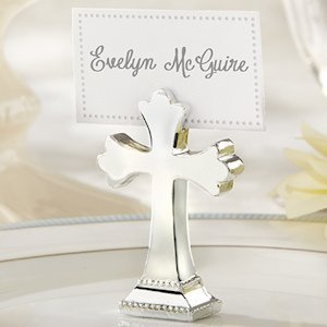 Silver Cross Place Card or Photo Holders (Set of 6) image