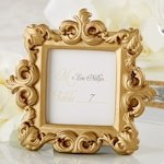 Gold Baroque Square Place Card or Photo Holder