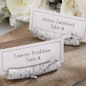 Birch Tree Branch Place Card Holder image