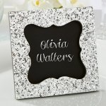 Sparkle and Shine Silver Glitter Frame Favors
