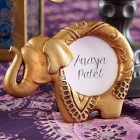 Lucky Golden Elephant Frame Indian Wedding Favors