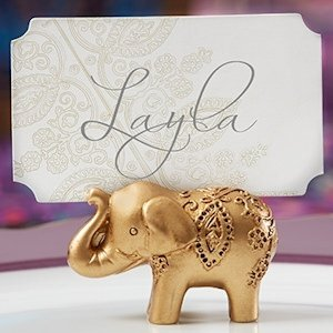 Lucky Golden Elephant Place Card Holders (Set of 6) image