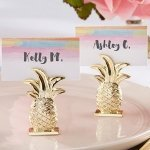 Gold Pineapple Place Card Holder (Set of 6)