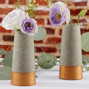 Copper and Concrete Bud Vase (Set of 4) image