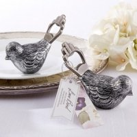 Antiqued Bird Bottle Opener Favors