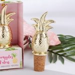 Gold Pineapple Bottle Stopper Favors