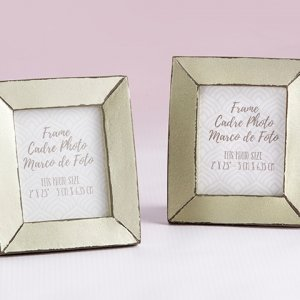 Light Champagne Antiqued Frame Favors image
