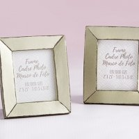 Light Champagne Antiqued Frame Favors