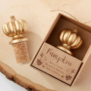 Pumpkin Bottle Stopper Favors image