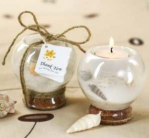 Sand and Shell Tealight Candle Holder image