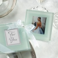 Forever Photo Frosted Glass Coaster Set