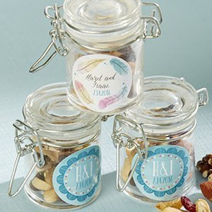 Personalized Bohemian Glass Favor Jars (Set of 12) image