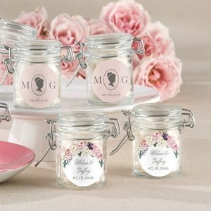 Personalized English Garden Glass Favor Jars (Set of 12) image