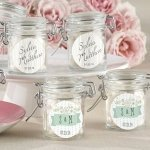 Rustic Theme Personalized Glass Favor Jars (Set of 12)